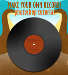 Make a vinyl album photoshop