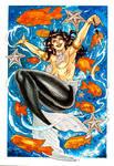 Zatanna Mermaid pinup