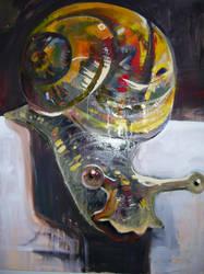 Snail by Hilarypaints