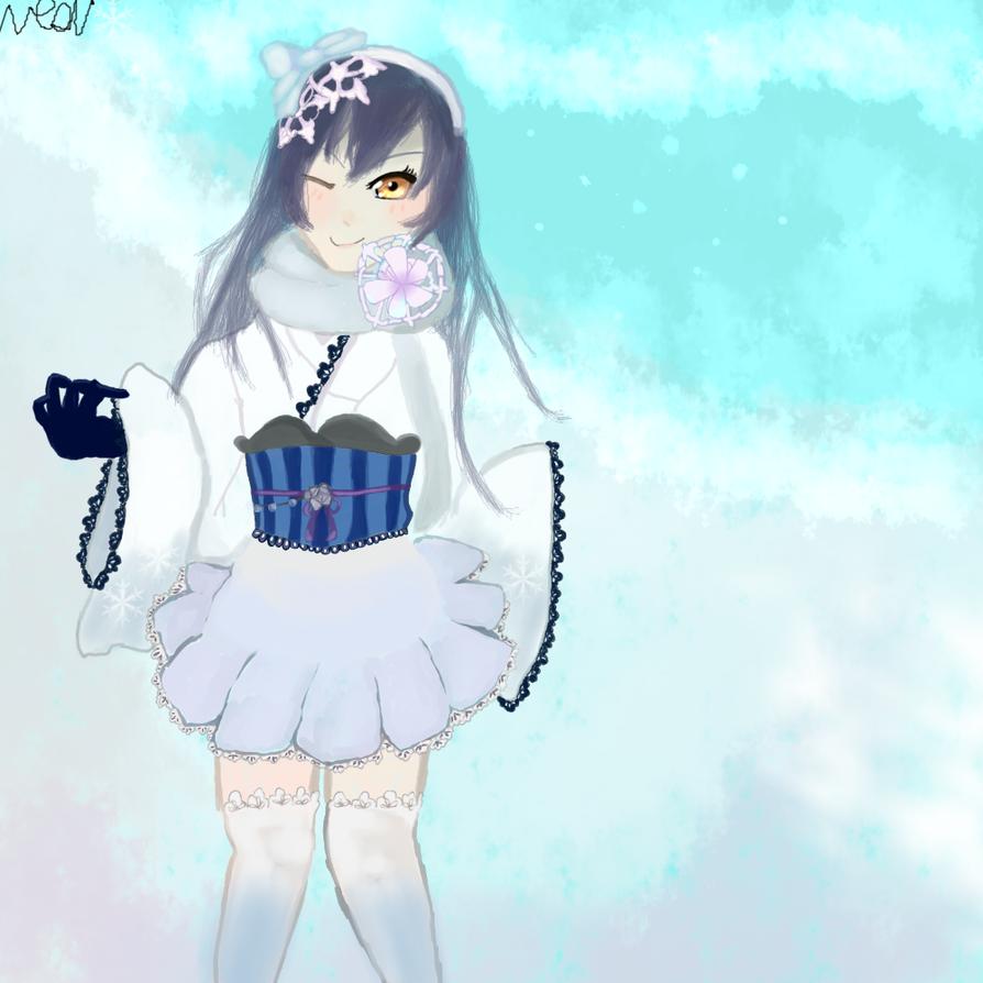 I drew a snow Umi by Neonmoon133