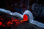 Lightpainting - Pollution
