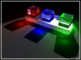Caustic Cubes by kamlesh