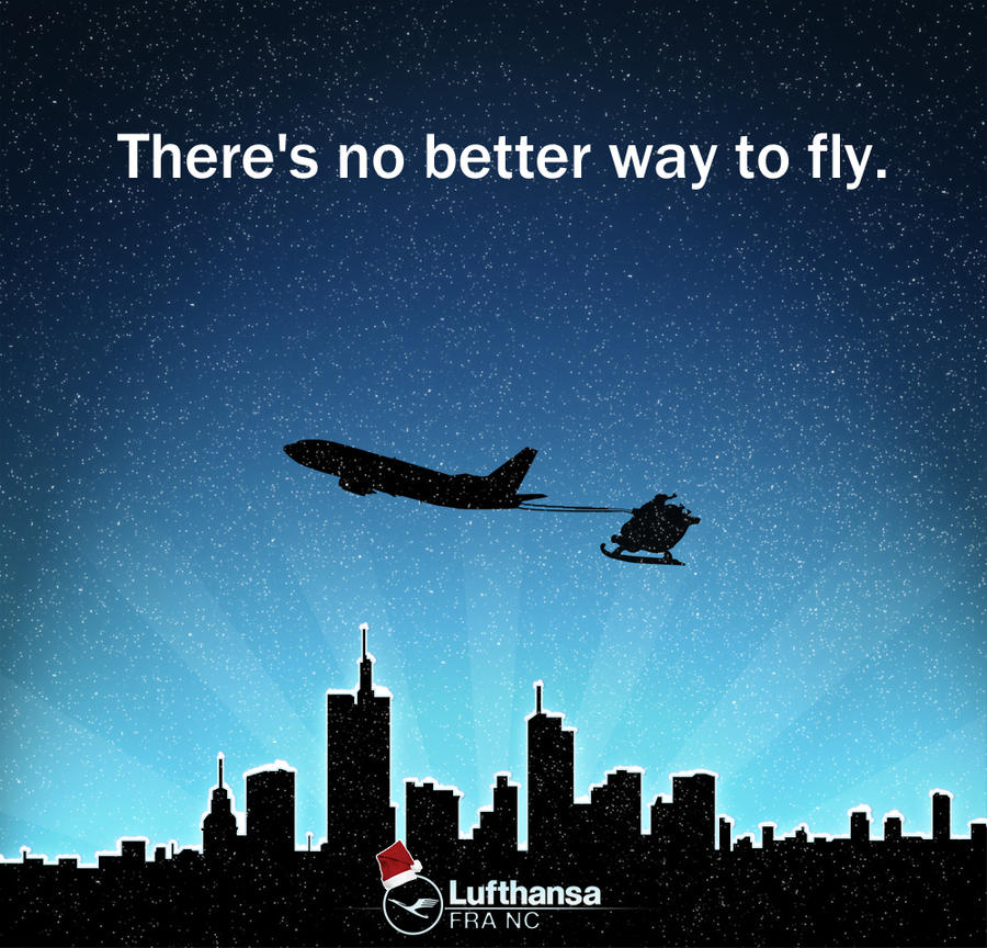 Lufthansa Christmas Card by Prain