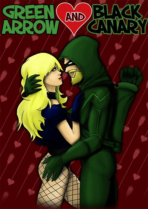 Green Arrow and Black Canary by malizlewa