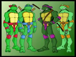 Teenage mutant ninja turtles by B-man-G-man