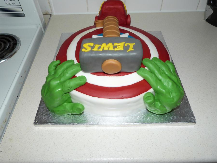 America Captain Avengers Birthday Cake