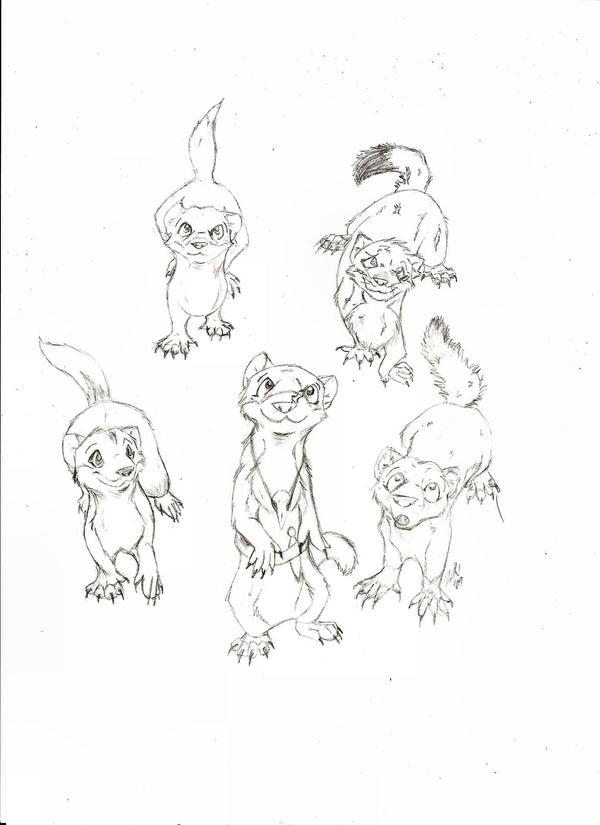 Welkin Weasels W.I.P. by ZekiWolf