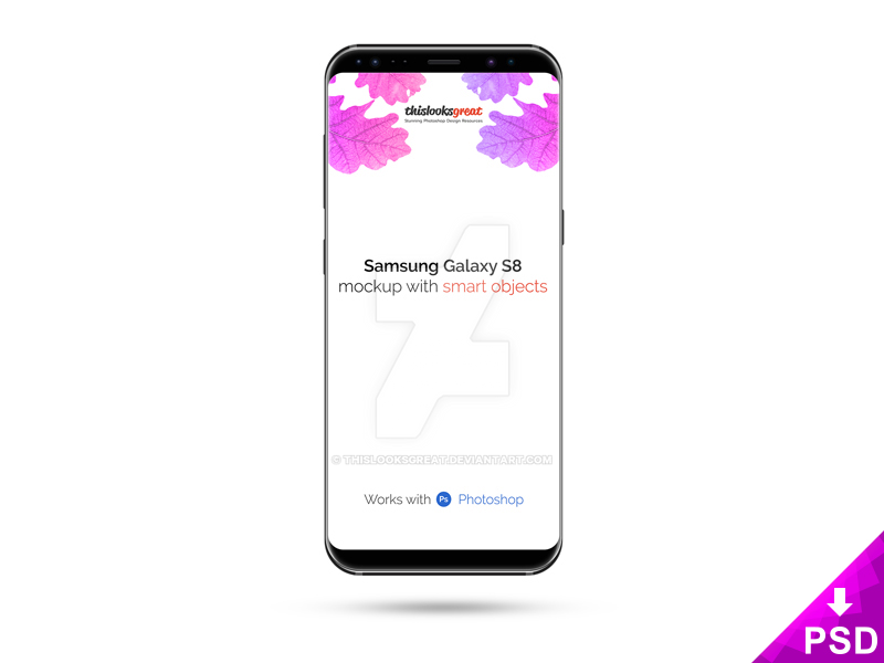 Samsung Galaxy S8 Mockup by thislooksgreat
