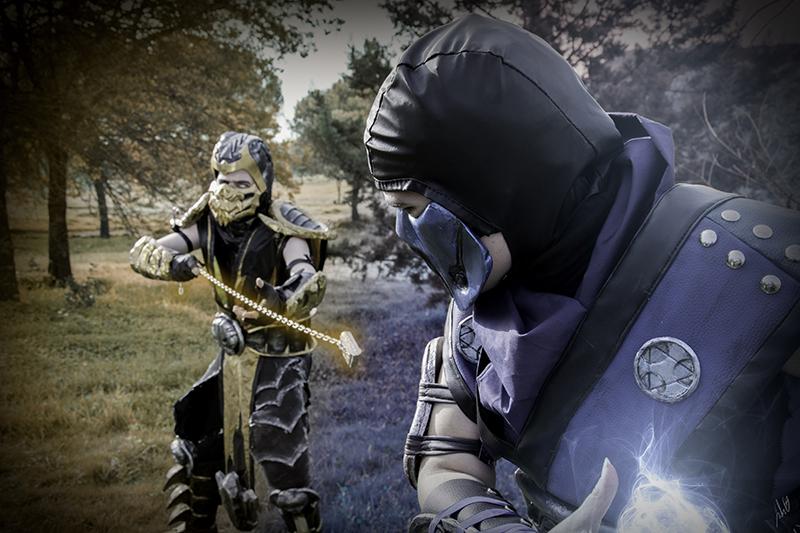Sub-zero vs Scorpion by Jenova5000 on DeviantArt