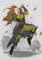 Female Elf Bard by cha4os