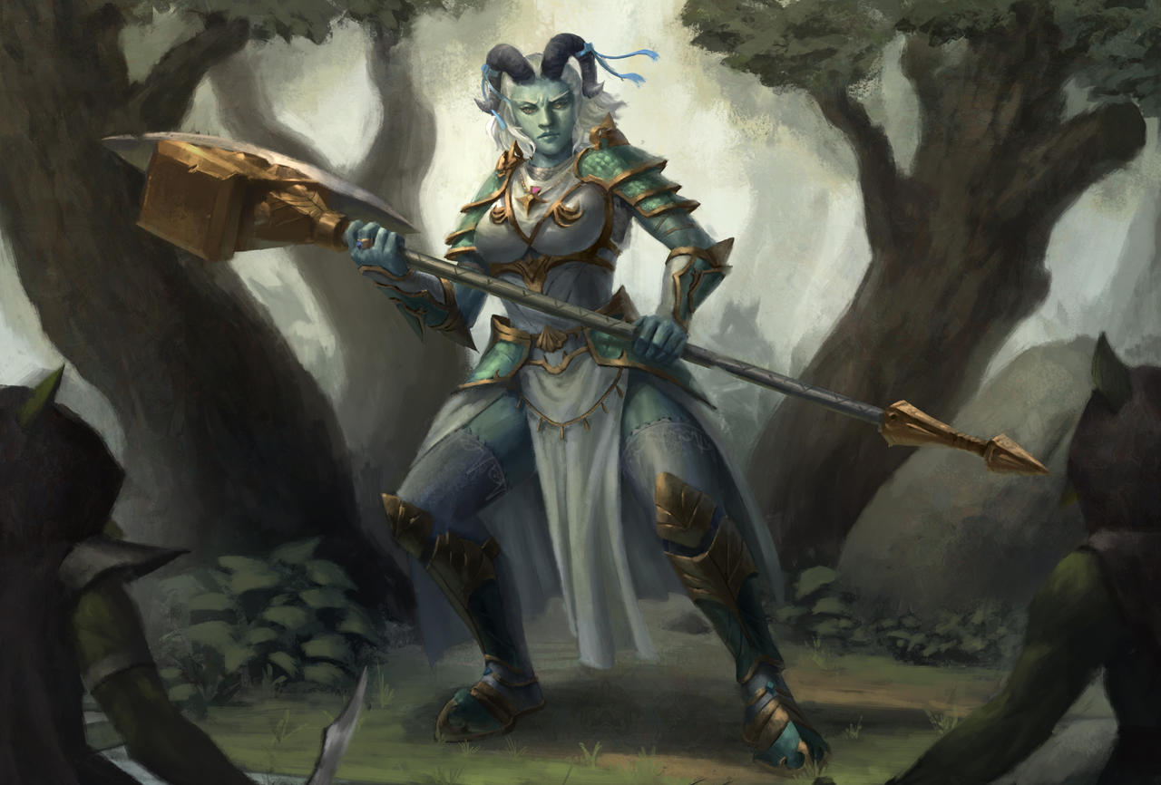 Tiefling Cleric By Cha4os On Deviantart