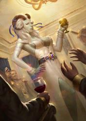 Tiefling cleric (cheers!)