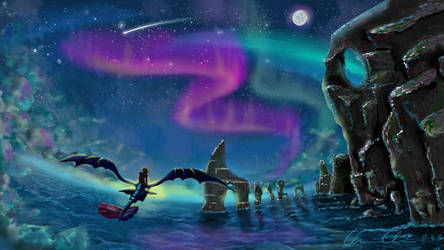 Soaring Through the Night Sky by tomoyo-chan10