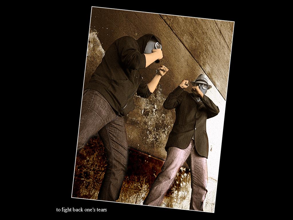 ... to fight back one's tears by joerx