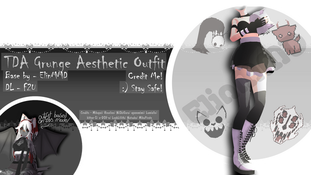 [MMD Outfit Base]|TDA Grunge Aesthetic Outfit