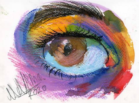 Colorful Purple Eye