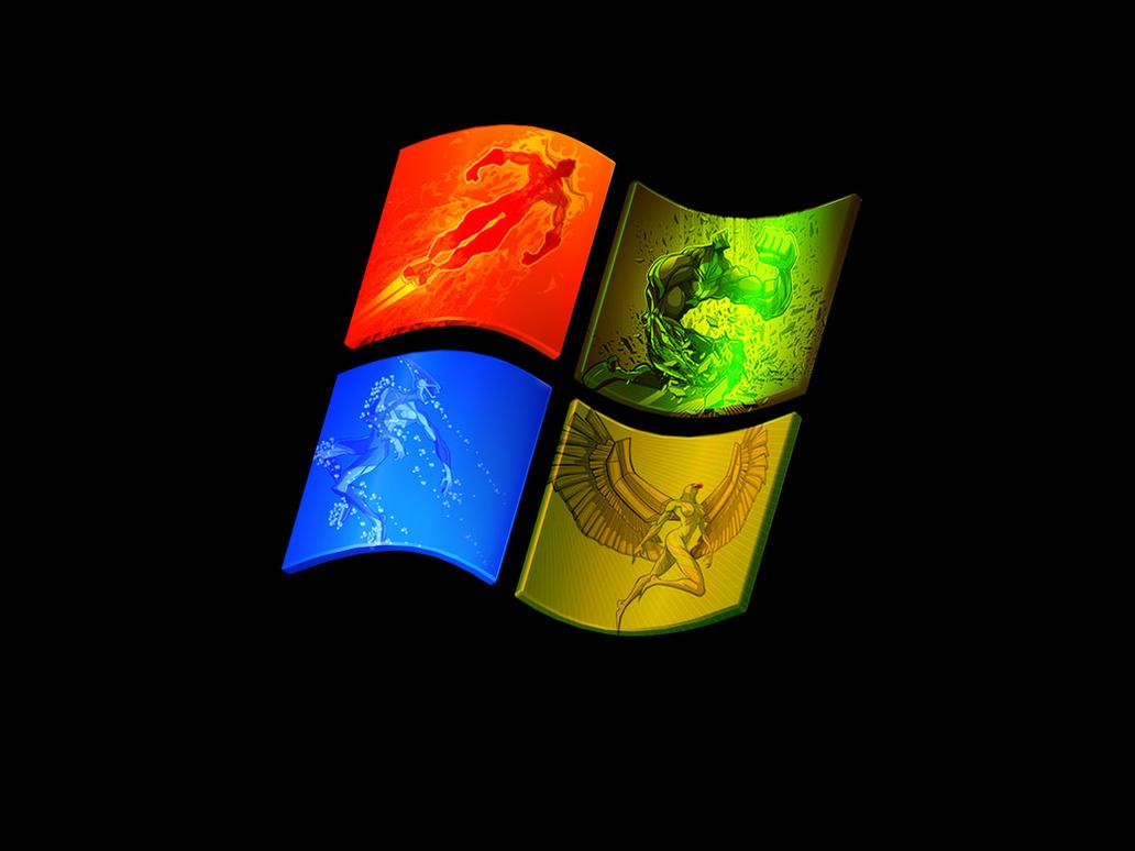 Windows Xp 4 Elements by floryn1995