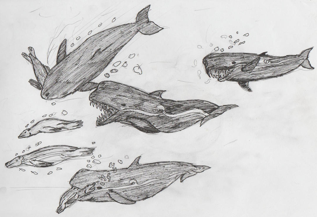 Leviathans attack by leucasaurio