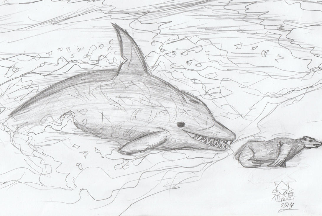 Macrokentriodon Hunting Seal by leucasaurio