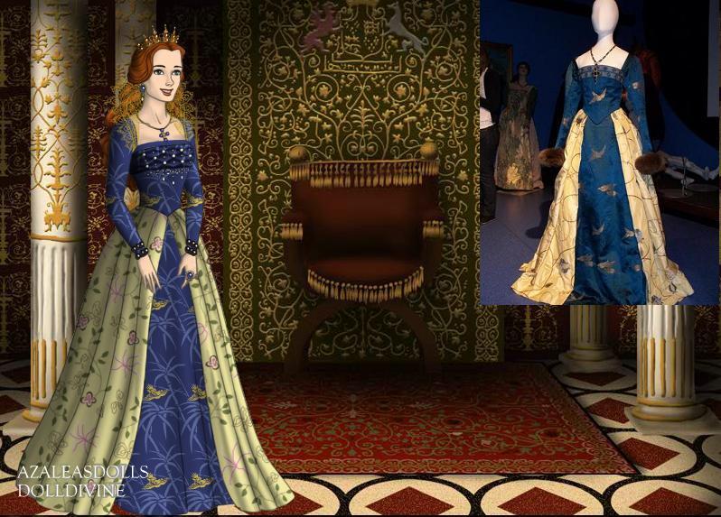Katherine Howard-Bird Gown by EriksAngelOfMusic22