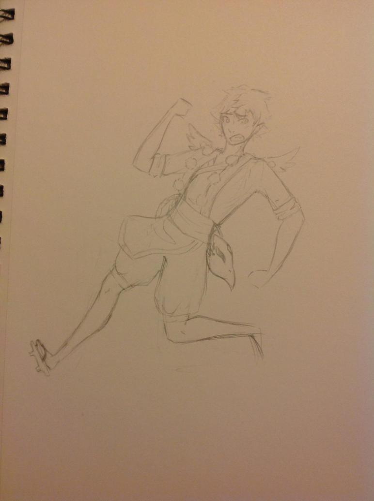 tengu!Hinata doodle by keroseneSteve