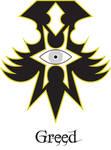Sin symbol GREED