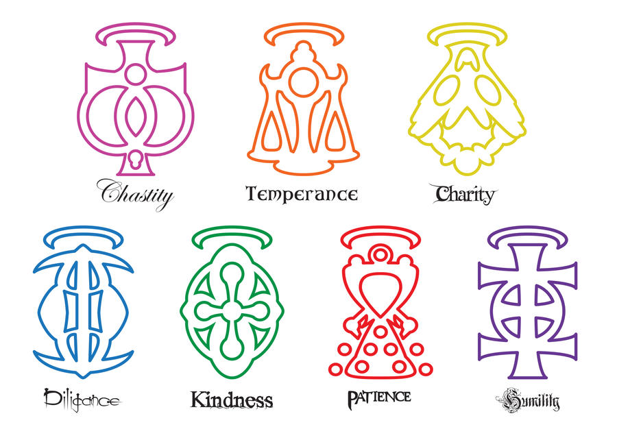 My 7 Virtues Symbols By Larsjack On Deviantart