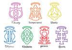 My 7 virtues symbols