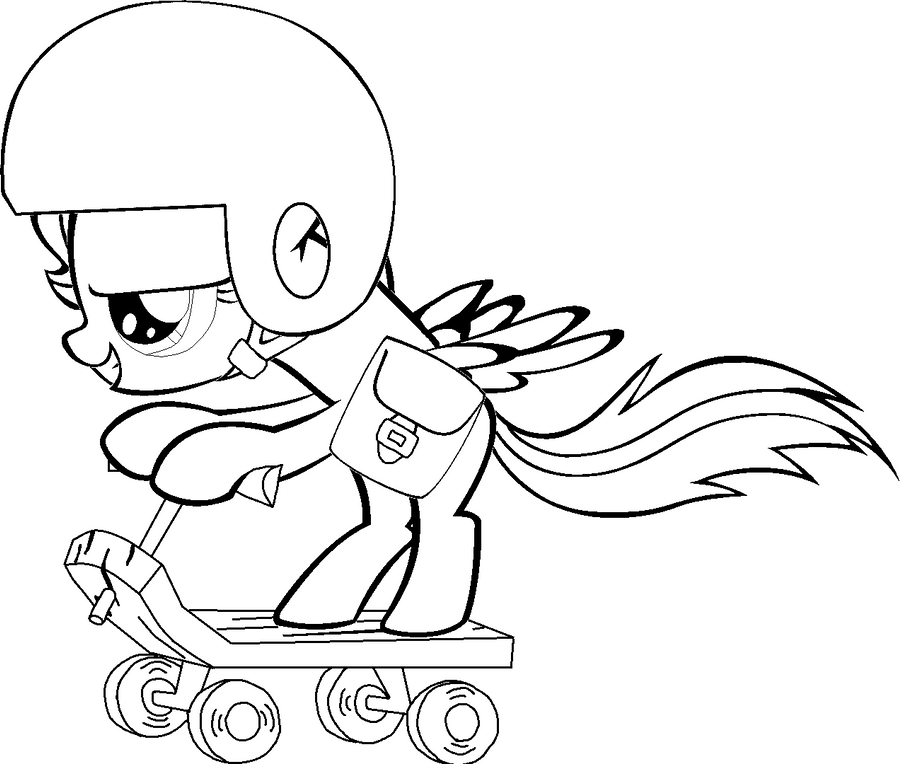 Scootaloo Scooting Colouring Page By AmandaGoldheart