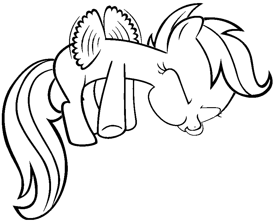 My little pony coloring pages scootaloo pony ~ Scootaloo Flying (Colouring Page) by AmandaGoldheart on ...