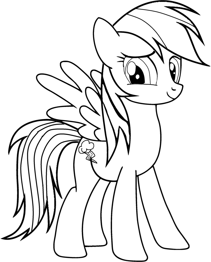 Heart and rainbow coloring pages - Rainbow Dash Colouring Page By Amandagoldheart
