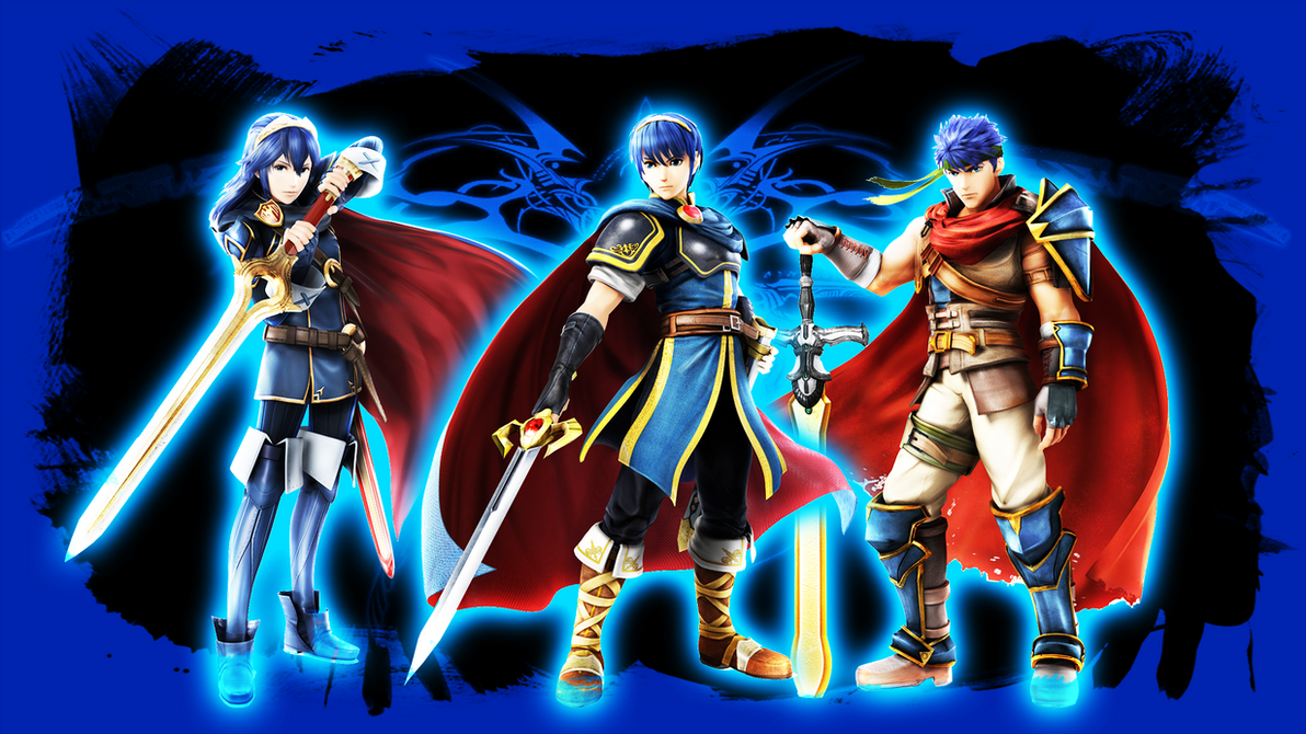marth ike and lucina wallpaper by rogueshadow02 on deviantart