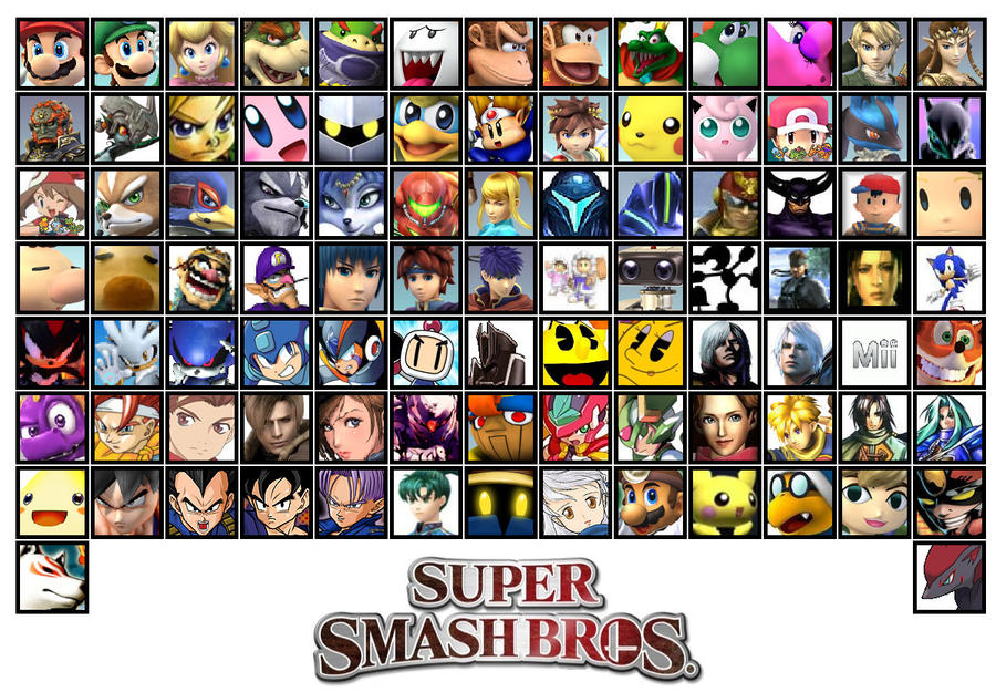 fan made new super smash bros 4 roster by shadarkness on deviantart