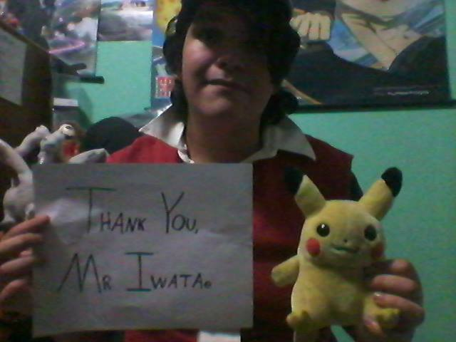 Thank you, Mr. Iwata. ~ Pokemon Trainer Red by Shadarkness