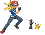 Ash pokemon xy anime sprite