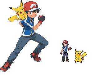 Ash pokemon xy anime sprite by darkgaara736 on DeviantArt