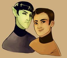 Spock and Jim Kirk - Sketch by ValeriaDiStefano