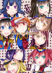 Love Live : Happy Party Train -All Characters- by rairy