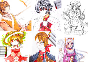 Food Fantasy: Pencil and Markers by rairy
