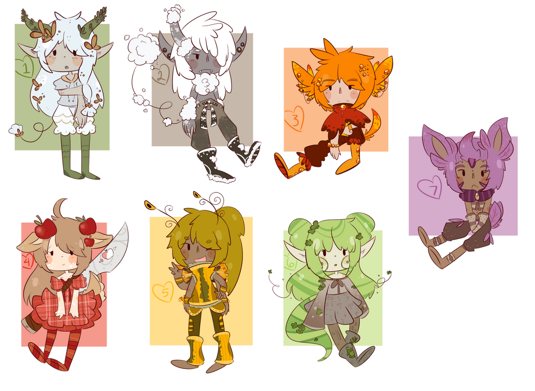 Auction Adopts 4 [Closed] by SugarSweetEclair