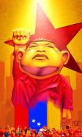 Caricature of Hugo Chavez