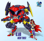 DVA Gurren Lagann Version Overwatch