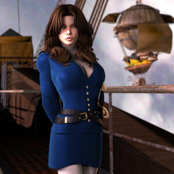 Airship Commander by babblingfaces