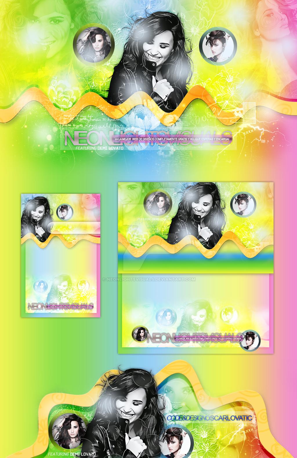 Demi Lovato Layout (Neon Lights Visuals) by NeonLightsVisuals