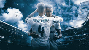 CRISTIANO RONALDO AND SERGIO RAMOS WALLPAPER