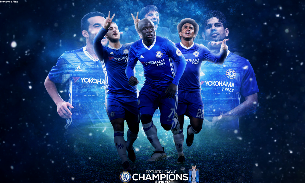 Chelsea Premier League Champions 2016 17 By MohamedALAAGFX