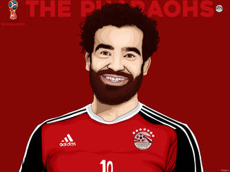 Mohamed Salah Vector Art by MohamedALAAGFX