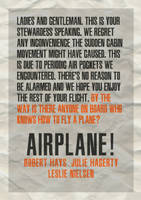 Typography poster experiment 1: Airplane