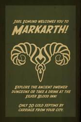 Skyrim travel poster: Markarth