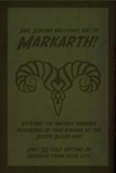 Skyrim travel poster: Markarth -2 color version